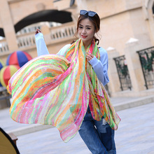 Hot Sale Spring Polyester Wholesale Long Scarf