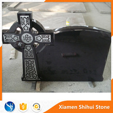 Wholesale cheap carving and granite black polished celtic cross headstones