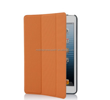 New Arrival PU leather Cover stripe leather case for ipad mini