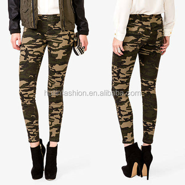 2015 latest design womens camouflage leggings pants hunting pants