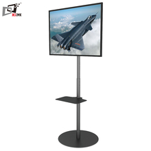 Support 32 To 65 Inch Rotation 360 Degree Heavy Load Metal Display Stand With Height Adjustment