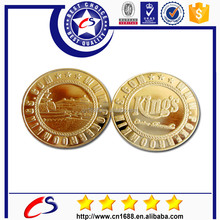 Custom Hottest Replica Plated Gold Metal Coin/Fake gold metal coin in euro