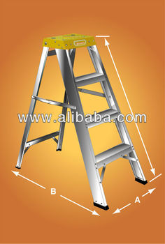 Domestic Step Ladder With Special Top Landing View Ladder