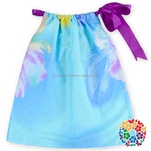 2016 Latest Dress Designs Colorful Kids Girls Loose A One Piece Girls Party Dresses Fashion Dress For Summer Wear