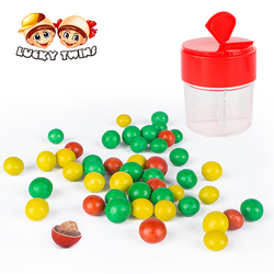 Yummy chocolate contain puffing confectionary candy in colorful