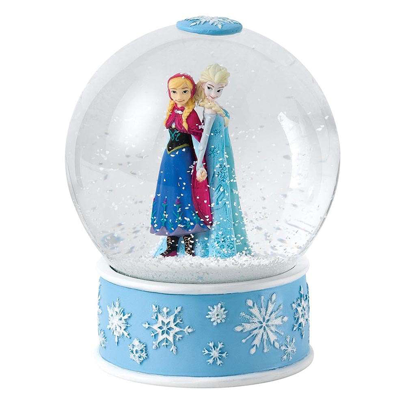 3D design collectable souvenir film cartoon character resin water globe for gift