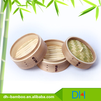 Cheap mini bamboo food steamer for commercial wood basket Wholesale