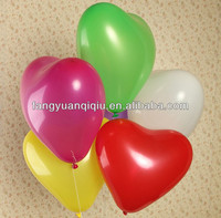 Hebei manufacture 2.4g 12inch cheap heart shaped balloons