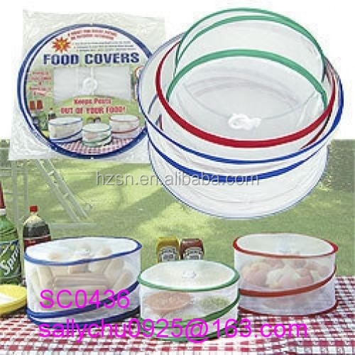 3 Mesh Pop-up Food Covers BBQ Picnic Collapsible Outdoor Bugs Protect Net NEW