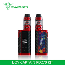 New Arrival 4ml Captain S Tank 234W IJOY Captain PD 270 Kit elektronik rokok shisha