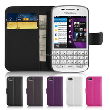 Standing function with Card Solt Wallet case for Blackberry Q10