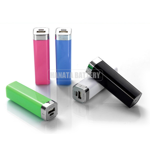 Portable Mobile Power Bank 2600mAh, Mini Lipstick Power Bank USB External Battery, Promotional Gift
