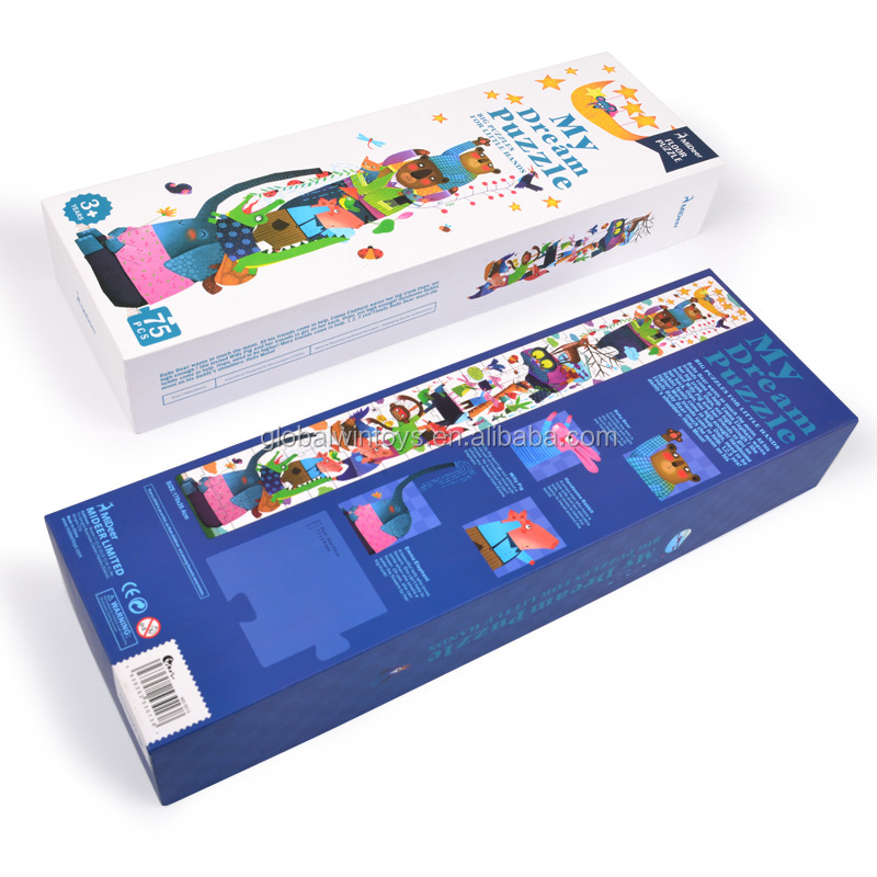 MIDEER kids puzzle my first puzzle earlier-educational super long jigsaw puzzle with a measure tape can record the kids height