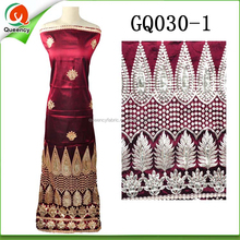GQ030 Queency Custom Design High Quality Indian Silk African George Fabric
