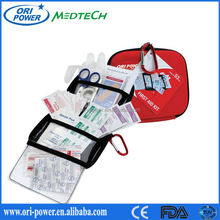 Hot sale ISO CE FDA approved road trip travel outdoor first aid kit adventure medical kits