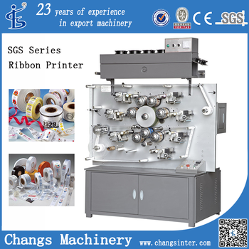 SGS Rotary used Label Printing Machine for sale