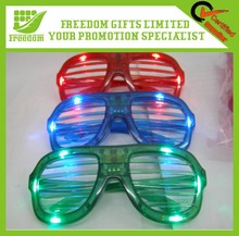 Promotional Window Blinds Shaped Color Changing LED Glasses