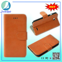 Innovative custom smooth flip cover wallet leather case for lg optimus l9 p769