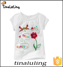 custom tshirt girl printed t -shirt Children summer Shirts printed girl T-shirt Little big boy Cartoon short sleeve baby T-shirt