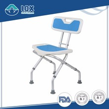 2017 Best adjustable height antiskid rubber pad thickening bath seat bath chair folding shower seat