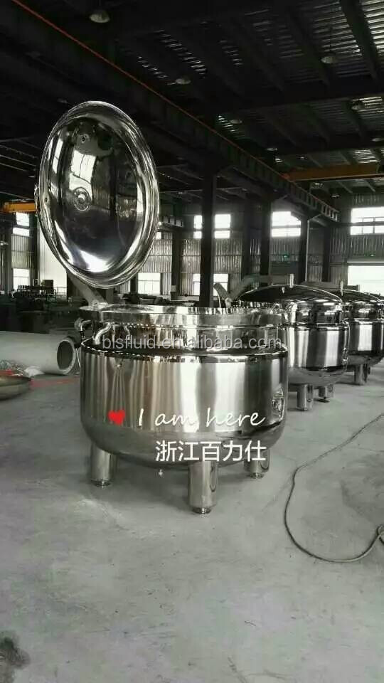 stainless steel ss316 300L industrial electric pressure cooker