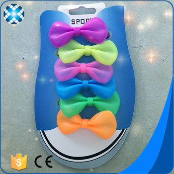 New Design Bowknot Silicone Shoe Laces Lady Slipper 2017