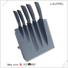 Stainless Steel 5pcs kitchen knife set with magnetic wooden block