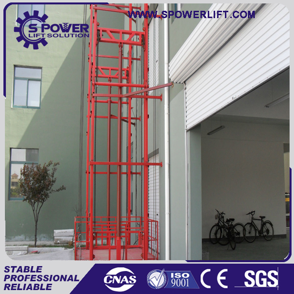 Warehouse necessary cargo lift platform hydraulic cage lift