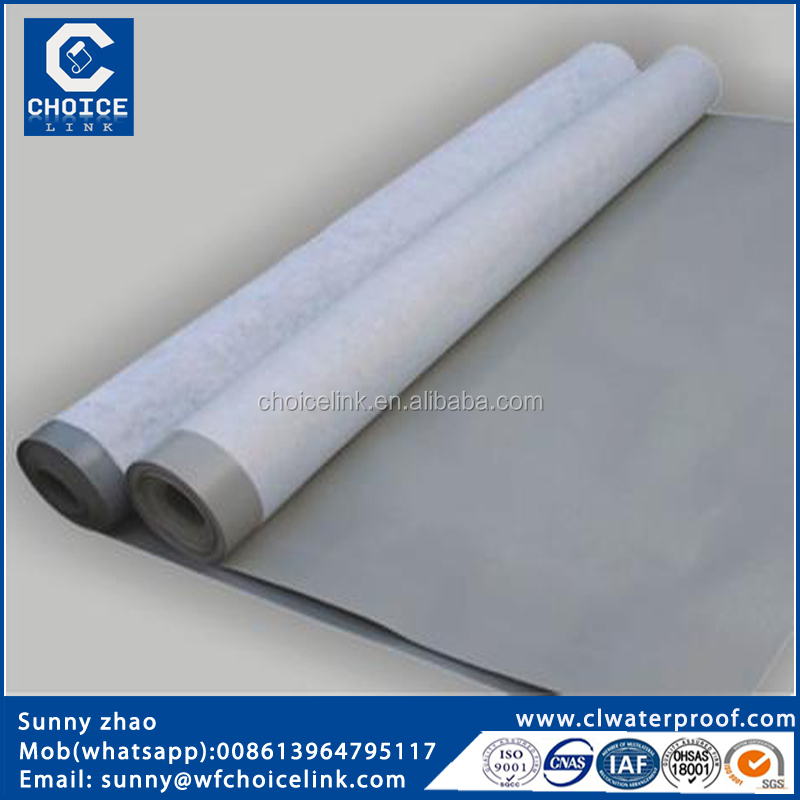 cheap construction materials manufacturer 2.0 mm pvc roof waterproofing