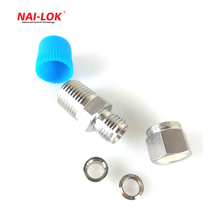 stainless steel straight male tube fittings for male female connectors in swagelok type