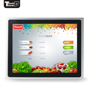 transparent touch screen monitor 15 inch best large industrial waterproof dustproof monitor