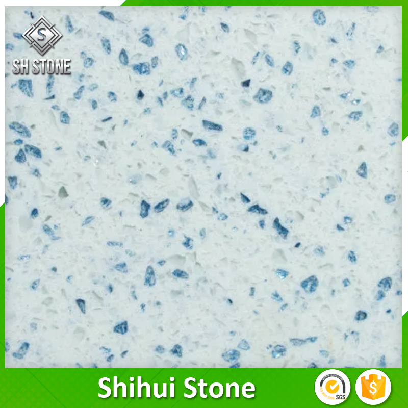 popular sparkle white quartz for tile and countertops etc