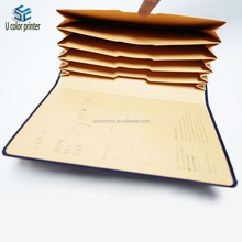 new style custom printed foldable kraft accordion file box