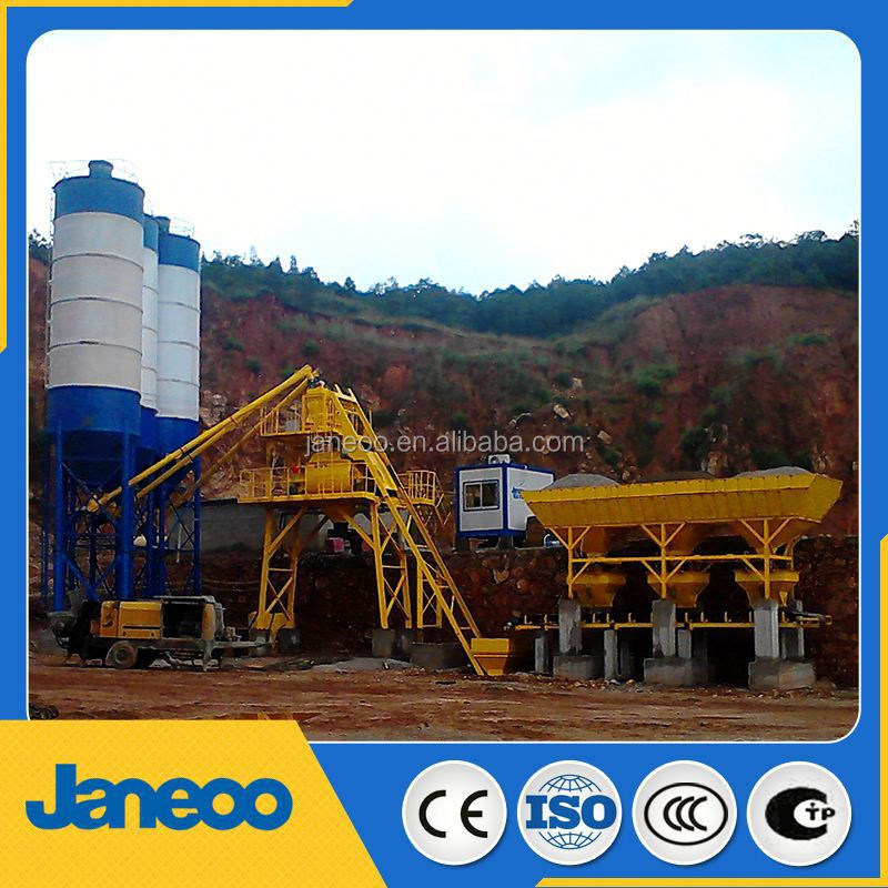factory HZS75 concrete batch plant
