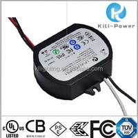 IP65 Outdoor UL,ETL,TUV,FCC,ENEC,CB,PSE listed 350ma LED Driver ,12w