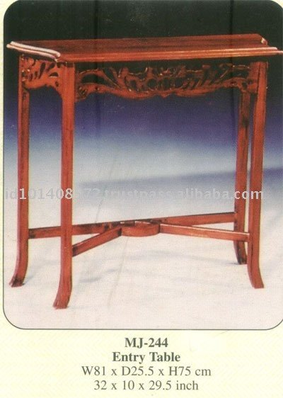 Entry Table Mahogany Indoor Furniture.