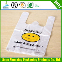t-shirt bag made in china / custom printing supermarket bag / plastic packaging for shopping