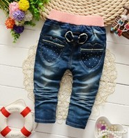2015 boy and girl fashion jeans with top quality, hot sale jeans trousers