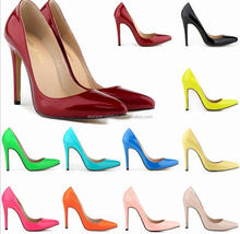Fashion ladies dress shoes 11cm high heel 17colors avaliable UK SIZE 2-9