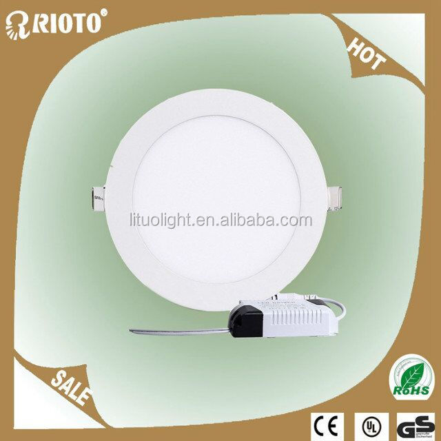Higher efficiency 3w-24w smd led round panel light
