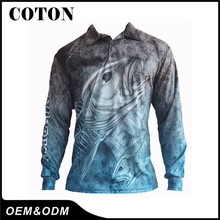 Hot sale soft breathable top quality custom fishing jersey