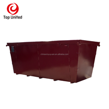 customized standard industrial steel skip recycle waste skip bin
