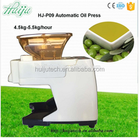 Capacity 4.5kg/h Full Automatic Stainless Steel Healthy No paint flax seed cold oil press machine HJ-P09