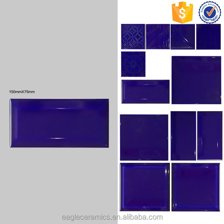 Foshan factory glossy glazed bevel wall tile, 75x150mm bathroom ceramic tiles purple with good quality