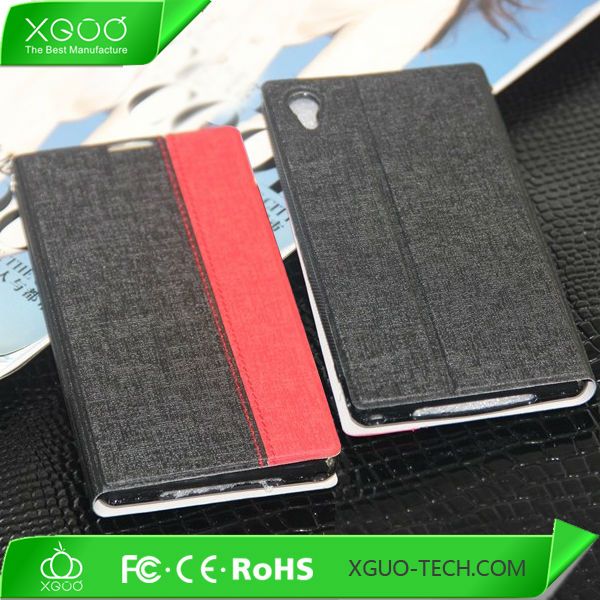 Leather case for sony xperia z1, leather flip case for sony xperia zl, cover case for sony xperia z1 L39H xperia I