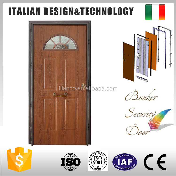 Guaranteed quality styled steel wood armore doors exterior used