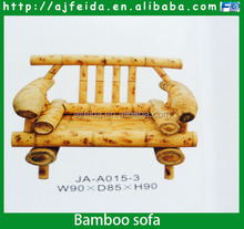 FD-156124bamboo sofa, bamboo double seat bench, outdoor chair