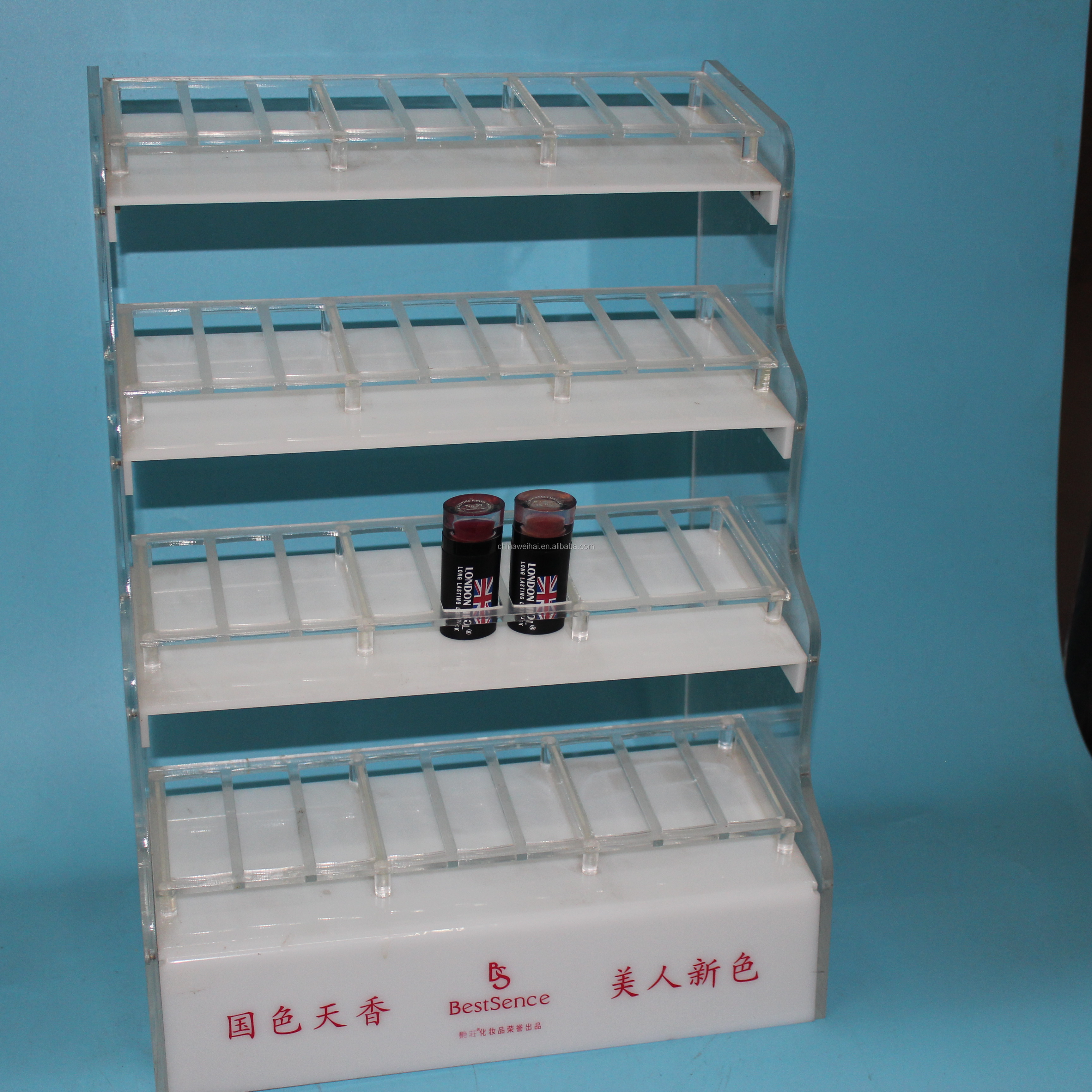 White 30ml Acrylic Bottle Display Stand