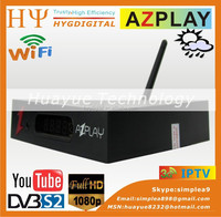 Best selling Original azplay HD PVR WIFI 1080P Full HD Digital Satellite Receiver Support CCcam, Newcam, Mgcam S V7 Libertview