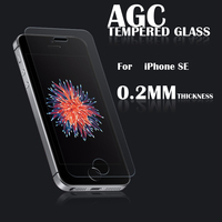 2016 newest Hot Sold 9H Anti Shock asahi tempered glass screen protector for iPhone SE OEM